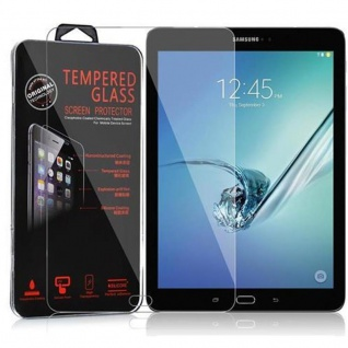 Cadorabo Panzer Folie für Samsung Galaxy Tab S2 (9, 7 Zoll) - Schutzfolie in KRISTALL KLAR - Gehärtetes (Tempered) Display-Schutzglas in 9H Härte mit 3D Touch Kompatibilität