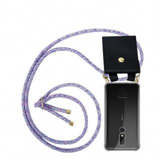 Cadorabo Handy Kette für Nokia 5.1 2018 in UNICORN - Silikon Necklace Umhänge Hülle mit Gold Ringen, Kordel Band Schnur und abnehmbarem Etui ? Schutzhülle