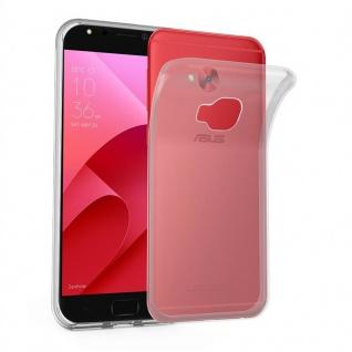 Cadorabo Hülle für Asus ZenFone 4 Selfie PRO in VOLL TRANSPARENT - Handyhülle aus flexiblem TPU Silikon - Silikonhülle Schutzhülle Ultra Slim Soft Back Cover Case Bumper