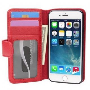 Cadorabo Hülle für Apple iPhone 7 / iPhone 7S / iPhone 8 in INFERNO ROT - Handyhülle mit Magnetverschluss und 3 Kartenfächern - Case Cover Schutzhülle Etui Tasche Book Klapp Style