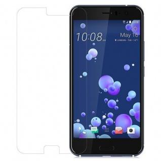 Cadorabo Panzer Folie für HTC OCEAN / U11 - Schutzfolie in KRISTALL KLAR - Gehärtetes (Tempered) Display-Schutzglas in 9H Härte mit 3D Touch Kompatibilität