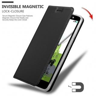 Cadorabo Hülle für LG Stylus 2 in CLASSY SCHWARZ - Handyhülle mit Magnetverschluss, Standfunktion und Kartenfach - Case Cover Schutzhülle Etui Tasche Book Klapp Style - Vorschau 3