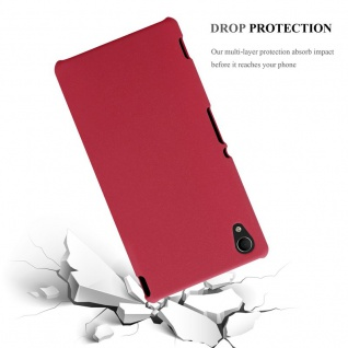 Cadorabo Hülle für Sony Xperia M4 AQUA in FROSTY ROT - Hardcase Handyhülle aus Plastik gegen Kratzer und Stöße - Schutzhülle Bumper Ultra Slim Back Case Hard Cover - Vorschau 4