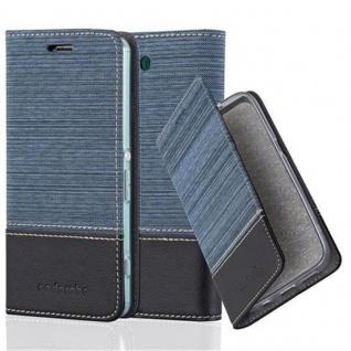 Cadorabo Hülle für Sony Xperia Z3 COMPACT in DUNKEL BLAU SCHWARZ - Handyhülle mit Magnetverschluss, Standfunktion und Kartenfach - Case Cover Schutzhülle Etui Tasche Book Klapp Style