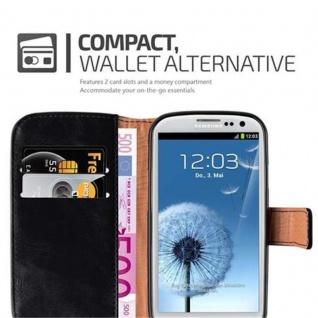 Cadorabo Hülle für Samsung Galaxy S3 / S3 NEO in GRAPHIT SCHWARZ ? Handyhülle mit Magnetverschluss, Standfunktion und Kartenfach ? Case Cover Schutzhülle Etui Tasche Book Klapp Style - Vorschau 3