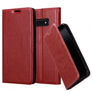 Cadorabo Hülle für Samsung Galaxy S10e in APFEL ROT Handyhülle mit Magnetverschluss, Standfunktion und Kartenfach Case Cover Schutzhülle Etui Tasche Book Klapp Style