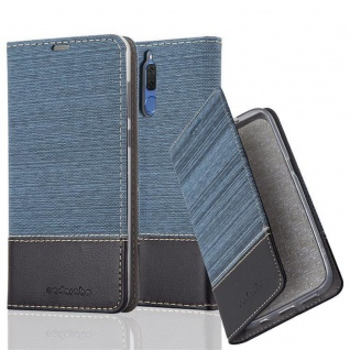 Cadorabo Hülle für Huawei MATE 10 LITE in DUNKEL BLAU SCHWARZ - Handyhülle mit Magnetverschluss, Standfunktion und Kartenfach - Case Cover Schutzhülle Etui Tasche Book Klapp Style