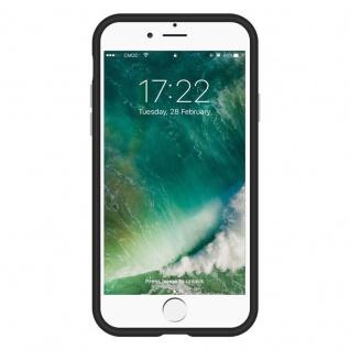 Cadorabo Hülle für Apple iPhone 6 PLUS / 7 PLUS / 8 PLUS in DAHLIEN SCHWARZ ? Outdoor Handyhülle mit extra Grip Anti Rutsch Oberfläche im Triangle Design aus Silikon und Kunststoff - Schutzhülle Hybrid Hardcase Back Case - Vorschau 4