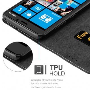 Cadorabo Hülle für Nokia Lumia 920 in SCHWARZ BRAUN ? Handyhülle mit Magnetverschluss, Standfunktion und Kartenfach ? Case Cover Schutzhülle Etui Tasche Book Klapp Style - Vorschau 4