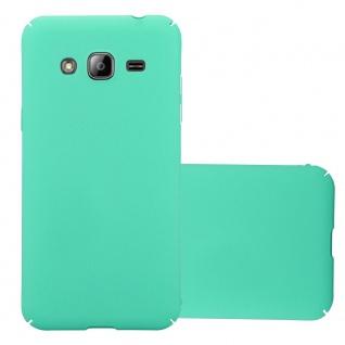 Cadorabo Hülle für Samsung Galaxy J3 / J3 DUOS 2016 in FROSTY GRÜN Hardcase Handyhülle aus Plastik gegen Kratzer und Stöße Schutzhülle Bumper Ultra Slim Back Case Hard Cover