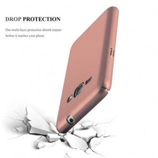 Cadorabo Hülle für Samsung Galaxy J1 2016 in METALL ROSE GOLD ? Hardcase Handyhülle aus Plastik gegen Kratzer und Stöße ? Schutzhülle Bumper Ultra Slim Back Case Hard Cover - Vorschau 3