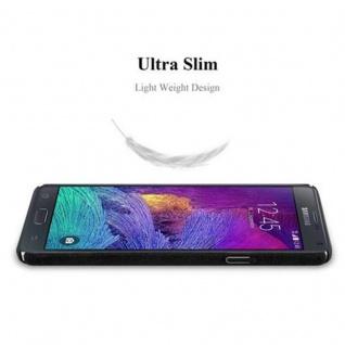 Cadorabo Hülle für Samsung Galaxy NOTE 4 in FROSTY SCHWARZ - Hardcase Handyhülle aus Plastik gegen Kratzer und Stöße - Schutzhülle Bumper Ultra Slim Back Case Hard Cover - Vorschau 4