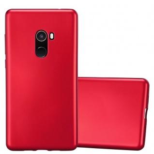 Cadorabo Hülle für Xiaomi Mi Mix 2 in METALLIC ROT - Handyhülle aus flexiblem TPU Silikon - Silikonhülle Schutzhülle Ultra Slim Soft Back Cover Case Bumper