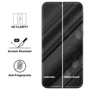 Cadorabo Vollbild Panzer Folie für Samsung Galaxy M20 - Schutzfolie in TRANSPARENT mit SCHWARZ - Gehärtetes (Tempered) Display-Schutzglas in 9H Härte mit 3D Touch Kompatibilität - Vorschau 2