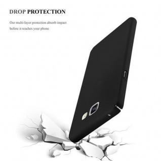 Cadorabo Hülle für Samsung Galaxy A3 2016 in METALL SCHWARZ - Hardcase Handyhülle aus Plastik gegen Kratzer und Stöße - Schutzhülle Bumper Ultra Slim Back Case Hard Cover - Vorschau 5