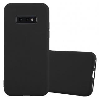 Cadorabo Hülle für Samsung Galaxy S10e in CANDY SCHWARZ - Handyhülle aus flexiblem TPU Silikon - Silikonhülle Schutzhülle Ultra Slim Soft Back Cover Case Bumper