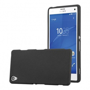 Cadorabo Hülle für Sony Xperia Z3 - Hülle in FROST SCHWARZ ? Handyhülle aus TPU Silikon im matten Frosted Design - Ultra Slim Soft Backcover Case Bumper
