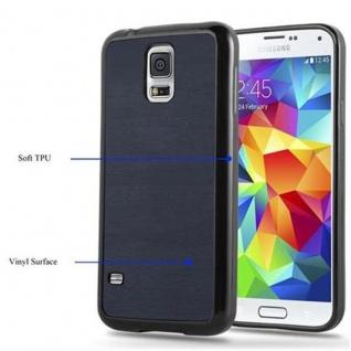 Cadorabo Hülle für Samsung Galaxy S5 / S5 NEO in WOODEN BLAU ? Handyhülle aus flexiblem TPU Silikon ? Silikonhülle Schutzhülle Ultra Slim Soft Back Cover Case Bumper - Vorschau 4