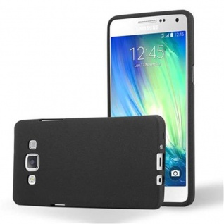 Cadorabo Hülle für Samsung Galaxy A5 2015 in FROST SCHWARZ - Handyhülle aus flexiblem TPU Silikon - Silikonhülle Schutzhülle Ultra Slim Soft Back Cover Case Bumper