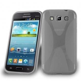 Cadorabo Hülle für Samsung Galaxy WIN in HALB TRANSPARENT ? Handyhülle aus flexiblem TPU Silikon ? Silikonhülle Schutzhülle Ultra Slim Soft Back Cover Case Bumper