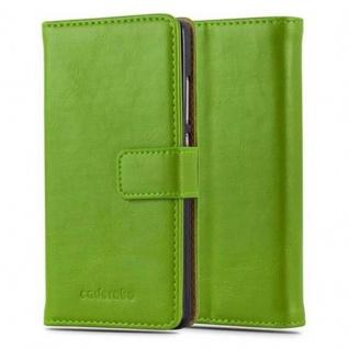 Cadorabo Hülle für Huawei P8 LITE 2015 in GRAS GRÜN ? Handyhülle mit Magnetverschluss, Standfunktion und Kartenfach ? Case Cover Schutzhülle Etui Tasche Book Klapp Style