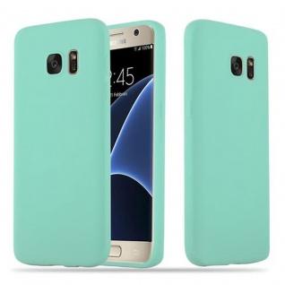 Cadorabo Hülle für Samsung Galaxy S7 in CANDY BLAU - Handyhülle aus flexiblem TPU Silikon - Silikonhülle Schutzhülle Ultra Slim Soft Back Cover Case Bumper