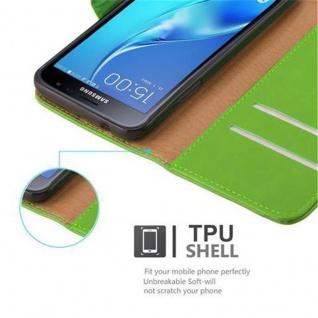 Cadorabo Hülle für Samsung Galaxy J3 2016 in GRAS GRÜN ? Handyhülle mit Magnetverschluss, Standfunktion und Kartenfach ? Case Cover Schutzhülle Etui Tasche Book Klapp Style - Vorschau 3