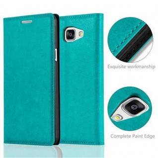 Cadorabo Hülle für Samsung Galaxy A5 2016 in PETROL TÜRKIS - Handyhülle mit Magnetverschluss, Standfunktion und Kartenfach - Case Cover Schutzhülle Etui Tasche Book Klapp Style - Vorschau 2