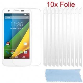 Cadorabo Displayschutzfolien für Motorola MOTO G-DVX - Schutzfolien in HIGH CLEAR ? 10 Stück hochtransparenter Schutzfolien gegen Staub, Schmutz und Kratzer