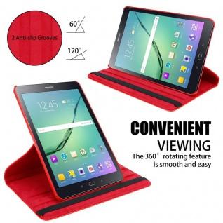 """"""" Cadorabo Tablet Hülle für Samsung Galaxy Tab S2 (8, 0"""" Zoll) SM-T715N / T719N in MOHN ROT ? Book Style Schutzhülle OHNE Auto Wake Up mit Standfunktion und Gummiband Verschluss"""" - Vorschau 4"""