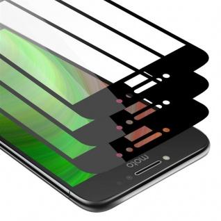 Cadorabo 3x Vollbild Panzer Folie für Motorola MOTO E4 Schutzfolie in TRANSPARENT mit SCHWARZ 3er Pack Gehärtetes (Tempered) Display-Schutzglas in 9H Härte mit 3D Touch