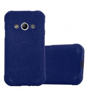 Cadorabo Hülle für Samsung Galaxy XCover 3 in FROST DUNKEL BLAU - Handyhülle aus flexiblem TPU Silikon - Silikonhülle Schutzhülle Ultra Slim Soft Back Cover Case Bumper