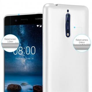 Cadorabo Hülle für Nokia 8 2017 in METALLIC SILBER - Handyhülle aus flexiblem TPU Silikon - Silikonhülle Schutzhülle Ultra Slim Soft Back Cover Case Bumper - Vorschau 4
