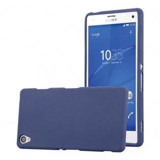 Cadorabo Hülle für Sony Xperia Z3 - Hülle in FROST DUNKEL BLAU ? Handyhülle aus TPU Silikon im matten Frosted Design - Ultra Slim Soft Backcover Case Bumper