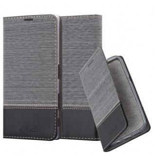 Cadorabo Hülle für Sony Xperia Z5 PREMIUM in GRAU SCHWARZ - Handyhülle mit Magnetverschluss, Standfunktion und Kartenfach - Case Cover Schutzhülle Etui Tasche Book Klapp Style