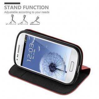 Cadorabo Hülle für Samsung Galaxy S3 MINI in APFEL ROT - Handyhülle mit Magnetverschluss, Standfunktion und Kartenfach - Case Cover Schutzhülle Etui Tasche Book Klapp Style - Vorschau 4