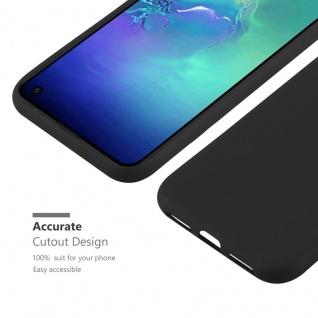 Cadorabo Hülle für Samsung Galaxy S10e in CANDY SCHWARZ - Handyhülle aus flexiblem TPU Silikon - Silikonhülle Schutzhülle Ultra Slim Soft Back Cover Case Bumper - Vorschau 5