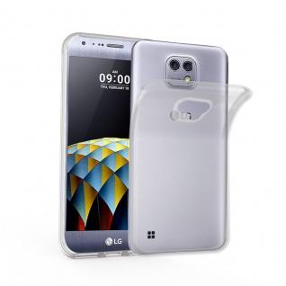 Cadorabo Hülle für LG X CAM in VOLL TRANSPARENT - Handyhülle aus flexiblem TPU Silikon - Silikonhülle Schutzhülle Ultra Slim Soft Back Cover Case Bumper