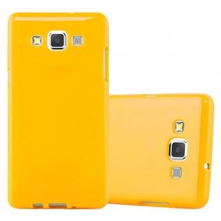 Cadorabo Hülle für Samsung Galaxy A5 2015 in JELLY GELB ? Handyhülle aus flexiblem TPU Silikon ? Silikonhülle Schutzhülle Ultra Slim Soft Back Cover Case Bumper