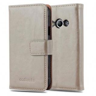 Cadorabo Hülle für Samsung Galaxy Xcover 3 in CAPPUCCINO BRAUN ? Handyhülle mit Magnetverschluss, Standfunktion und Kartenfach ? Case Cover Schutzhülle Etui Tasche Book Klapp Style