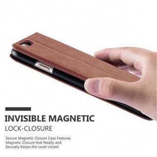 Cadorabo Hülle für Apple iPhone 6 PLUS / iPhone 6S PLUS in CAPPUCCINO BRAUN - Handyhülle mit Magnetverschluss, Standfunktion und Kartenfach - Case Cover Schutzhülle Etui Tasche Book Klapp Style - Vorschau 5