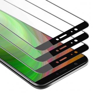Cadorabo 3x Vollbild Panzer Folie für Huawei Enjoy 7S Schutzfolie in TRANSPARENT mit SCHWARZ 3er Pack Gehärtetes (Tempered) Display-Schutzglas in 9H Härte mit 3D Touch