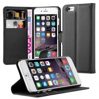 Cadorabo Hülle für Apple iPhone 6 / iPhone 6S in PHANTOM SCHWARZ - Handyhülle mit Magnetverschluss, Standfunktion und Kartenfach - Case Cover Schutzhülle Etui Tasche Book Klapp Style