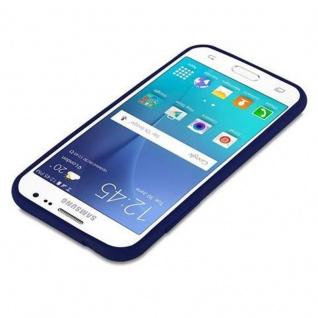 Cadorabo Hülle für Samsung Galaxy J2 2015 in CANDY DUNKEL BLAU - Handyhülle aus flexiblem TPU Silikon - Silikonhülle Schutzhülle Ultra Slim Soft Back Cover Case Bumper - Vorschau 3