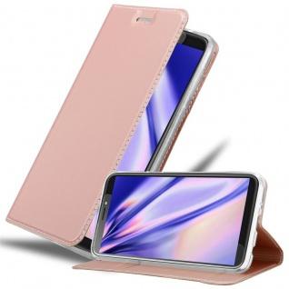 Cadorabo Hülle für HTC Desire 12 PLUS in CLASSY ROSÉ GOLD - Handyhülle mit Magnetverschluss, Standfunktion und Kartenfach - Case Cover Schutzhülle Etui Tasche Book Klapp Style