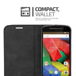 Cadorabo Hülle für Motorola MOTO G2 in APFEL ROT Handyhülle mit Magnetverschluss, Standfunktion und Kartenfach Case Cover Schutzhülle Etui Tasche Book Klapp Style - Vorschau 5