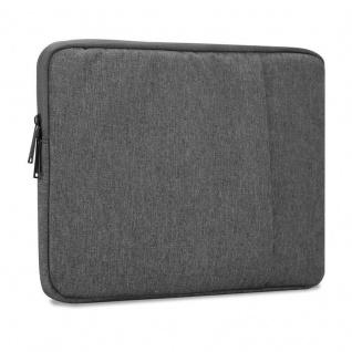 Cadorabo Laptop / Tablet Tasche 14'' Zoll in DUNKEL GRAU ? Notebook Computer Tasche aus Stoff mit Samt-Innenfutter und Fach mit Anti-Kratz Reißverschluss ? Schutzhülle Sleeve Case
