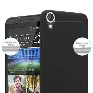 Cadorabo Hülle für HTC Desire 820 in FROSTY SCHWARZ - Hardcase Handyhülle aus Plastik gegen Kratzer und Stöße - Schutzhülle Bumper Ultra Slim Back Case Hard Cover - Vorschau 2
