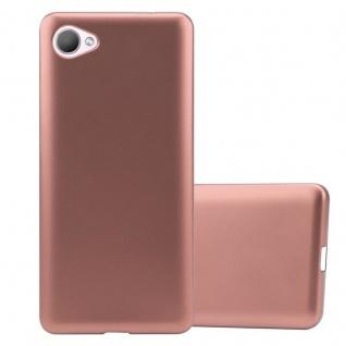 Cadorabo Hülle für HTC Desire 12 in METALLIC ROSÉ GOLD - Handyhülle aus flexiblem TPU Silikon - Silikonhülle Schutzhülle Ultra Slim Soft Back Cover Case Bumper