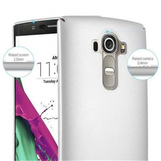 Cadorabo Hülle für LG G4 / G4 PLUS in METALL SILBER - Hardcase Handyhülle aus Plastik gegen Kratzer und Stöße - Schutzhülle Bumper Ultra Slim Back Case Hard Cover - Vorschau 4